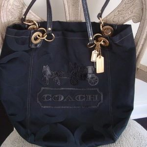 Authentic Coach Shoulder Bag Bucket Tote Purse